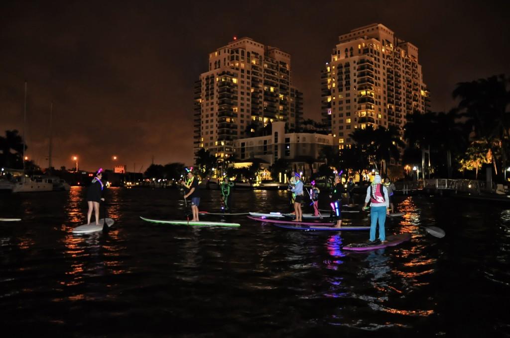 Paddleboarders - Light Up Lauderdale €� Riverwalk Fort Lauderdale