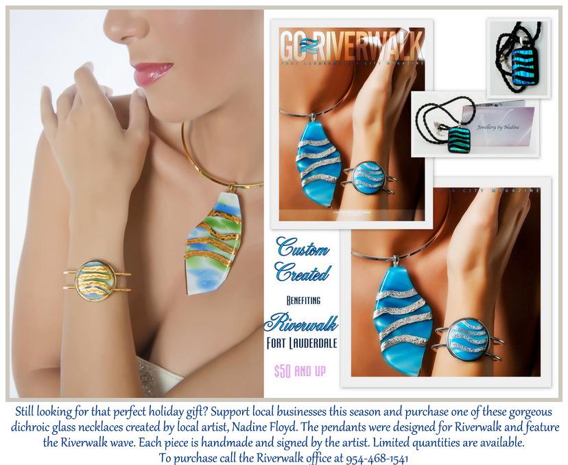 Dichroic Glass Jewellery by Nadine Floyd