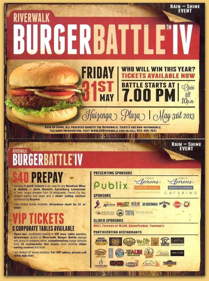 Join us at Eiverwalk's Burger Battle™