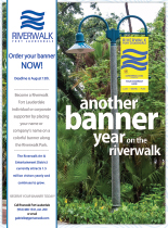 Ad for Riverwalk Banners