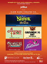 Image of upcoming shows at The Broward Center
