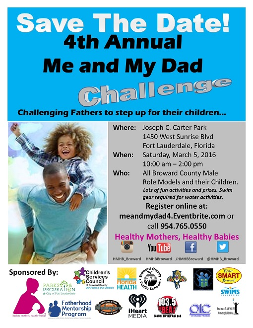 Me and My Dad Challenge Save the Date