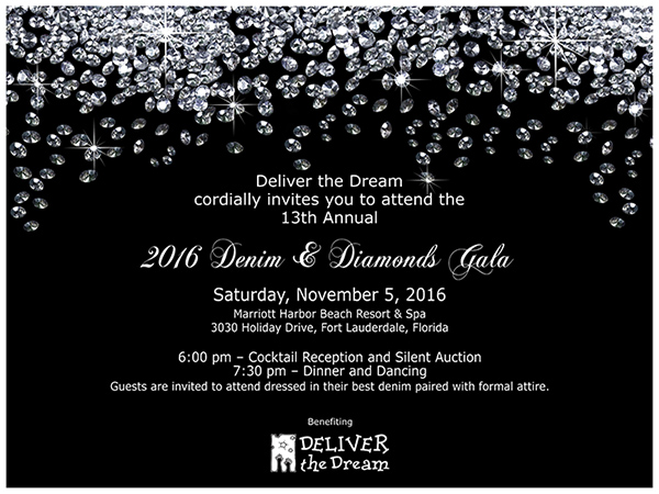 deliver the dream 13th annual denim  u0026 diamonds gala