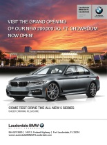 Ad for Lauderdale BMW