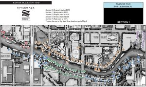 Map of Riverwalk Banner Locations - Section 1