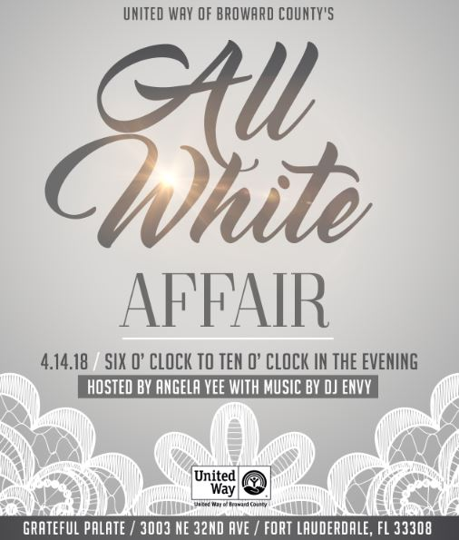 United Way Of Broward County To Host All White Affair