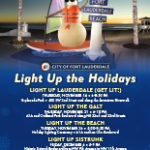 An image of the flyer for the City of Fort Lauderdale Light Up The Holidays